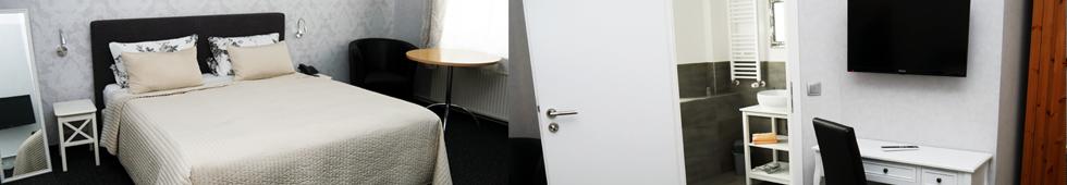 Zimmeransicht Komfort-Doppelzimmer - Pension Ikar Schwerin